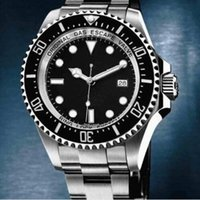 Wholesale Dial Sea Dweller - HOT!2017 New high Luxury Christmas gift automatic Mechanical men Watches brand dweller sea stainless steel black dial mens dress wristwatch