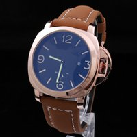 Wholesale Top AAA Men s Stainless Steel Acciaio Pam Firenze Watch Men Retro Pam604 Calf Leather Watches Mens Classic imitation brand watch