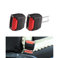 Wholesale Car Buckle Belts - 2Pcs Universal Auto Car Safety Seat Belt Buckle Extension Extender Clip Vehicle-mounted Bottle Opener Dual-use Black