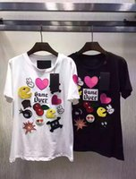 Game Over Letters Magliette Donna Cotone O Collo Manica corta Stampa Emoji Casual Maglietta Applique Unico Tees All'ingrosso