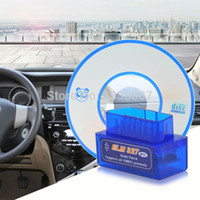 Großhandel-beste Mini Elm327 Bluetooth OBD2 / OBDII V1.5 Diagnosewerkzeug Scanner ELM 327 V 1.5 Auto Diagnose-Tool für Android-Adapter Scanner