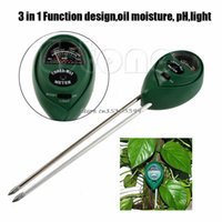 Wholesale Hydroponics Ph Meter - Wholesale- New Hot 3 in1 PH Tester Soil Water Moisture Light Test Meter for Garden Plant Flower Kit Hydroponics Analyzer #G205M#