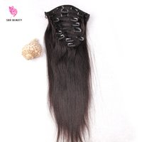 extensions réelles de cheveux humains de 26 pouces achat en gros de-100% cheveux naturels Blonde clip dans les extensions humaines Real Natural Hair Extensions16-26 pouces Brazilian Hair Clip In Extensions