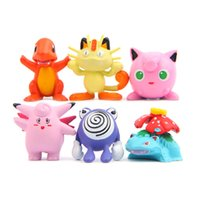 6 pz / borsa Giapponese Anime Action Figures Mini Figurine Carino Charmander PVC Figure Pop Pokeball Giocattoli per bambini