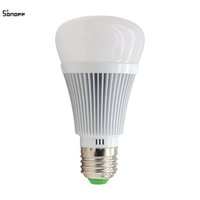 Wholesale Sonoff B1 WIFI RGB Colorful Light Bulb Wireless Remote Control Smart Illumination Change Temperature Brightness Dimmable E27 LED Lamp