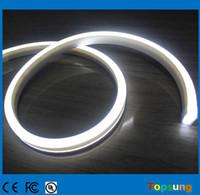 éclairage à cordes plates led blanc achat en gros de-20m bobine plat ultra mince led néon éclairage couleur blanche bande flexible neon-flex corde 11x19mm 24v
