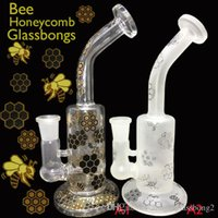 Wholesale 2017 NEW style glass bongs beaker glass bong Faberge Eggs Water Pipes recycler oil rig dab rigs honeycomb pecr
