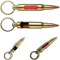 Wholesale Wholesale Novelty Home Accessories - Fashion Bullet Key Novelty Bottle Opener Buckle Key Rings Bottle Opener Gift For Home Bar Accessories