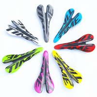 Wholesale Time Carbon Bikes - bicycle glossy carbon saddle Time 3k full carbon fibre cycling MTB road bike seat bicyle parts 95g