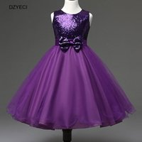 Wholesale Teenage Princess Style Dresses - Fashion Sequins Bow Princess Dress For Big Girl TUTU Costume Teenage Children Sleeveless Deguisement Carnival Ball Gown Princess Dress