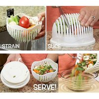 Wholesale Eco Friendly Shipping Materials - Newest Hot 60 Second Vegetable Cutter Bowl Salad Maker PP Material Wave Shaped Multifunction Healthy Fresh Salads Free Shipping