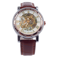 Men's orkina skeleton - ORKINA KC023 Double Sided Skeleton Automatic Mechanical Analog Men Wrist Watch Wristwatch Watches