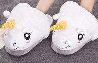 New Women Men Winter Warm Slippers Casual Cute Home Indoor Cartoon Plush Unicorn Shoes Pantufas Unisex Warm Home Slippers Shoes