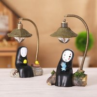 Wholesale spirit plastics resale online - Spirited Away Hayao Miyazaki No Face Male Animation Night Light LED Lamp Creative Ornaments Micro Landscape Home Furnishing Ornaments mf G