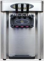 h crema al por mayor-25 L / H comercial soft serve máquina de helado tres sabores máquina de helado suave mesa modelo envío libre 110 v / 220 v