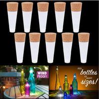 Wholesale Plastic Wine Cork Stoppers - LumiParty LED Wine Bottle Night light Magic Cork Shaped USB Rechargeable cork stopper cap lamp creative romantic white c180