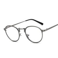 Atacado- Mais novo anti-azul Light Len Eyelass Frame Eyewear Metal Leg Vintage Eyeglasses Frame Mulheres Men Fake liso Glasses Fashion Eyewear