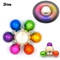Wholesale Dragon Pottery - New arrival Dragon Ball Alloy Hexagonal Fidget Spinner Hexa-spinner EDS Anti-stress Rotation Multicolor Metal hand Spinners Spinning Top 100