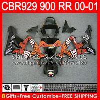Wholesale Honda Cbr929rr Repsol Fairing - Body For HONDA CBR 929RR CBR900RR CBR929RR 00 01 CBR 900RR 67NO7 TOP Repsol red CBR929 RR CBR900 RR CBR 929 RR 2000 2001 Fairing kit 8Gifts