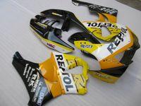 99 honda cbr al por mayor-Kit de carenado de plástico ABS para carenado Honda CBR919RR 98 99 amarillo negro conjunto CBR 900RR 1998 1999 OT16