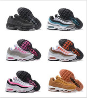 Wholesale Cheap Steel Spikes - Wholesale Top Quality Air Cushion 95 Hot Sale Breathable Women Cheap Running Shoes Classic 95 QS Runs Shoes Fashion Sports Sneakers