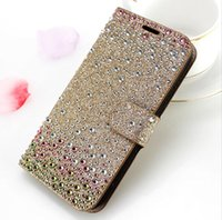 Portefeuille pour Galaxy S8 Active G892A Pour LG V30 Moto Z force 2017 Sony Xperia XA 1 Diamant Strass Bling D