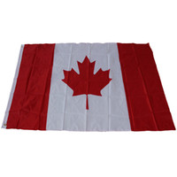 Wholesale Canadian Flags - free shippingNew 90cmx150cmCanada National Flags 3*5 feet Large Canadian Flags Polyester Canada Maple Leaf Banner Outdoor flags