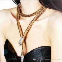 Wholesale Bendy Bracelet - 20pcs Temptation Flexible Bendable Snake Jewelry Necklace Choker Bracelet Scarf Holder Bendy Chain waist chain F150