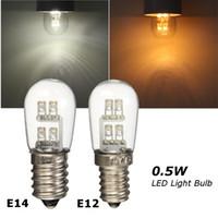 candles prices achat en gros de-Prix le plus bas 0.5W 4 LED E12 E14 Base LED Ampoule Bougie Candélabre Lampe Ampoule Pure Blanc Chaud Non Dimmable AC120V / 220V