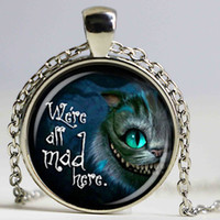 Wholesale book lovers - Literary quote pendant necklace cat clock necklace book lover necklace