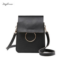 Wholesale Korean Handbags For Girls - Wholesale- Famous designer crossbody bags for women pop purses and handbags 2016 italian brand leather girls sac luxe mini shoulder bags