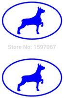 Personalized Sticker oval glass door - Home Decorations Automobile and Motorcycle with Products Vinyl Decal Car Stickers Glass Stickers Scratches Sticker Jdm Doberman Dog Oval