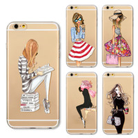 Wholesale Girl Effects - Cell Phone Accessories Cases 2017 fashion Geometry Painting Fashion Girl Pattern Effect Case Cover Defender For iPhone 5S 6 6s plus 7 7Plus