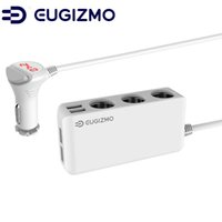 Wholesale Chargeable Cigarettes - EUGIZMO 6.5A Power Adapter DC Outlet Splitter 4-Ports USB Charger with 3-Socket Cigarette Lighter for USB chargeable devices