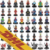 Wholesale Toy Wholesale Dc - 480pcs lot Mix Order Minifig Marvel DC Super Heroes NEXO Knights The Avengers Bat Spiderman Iron Man Mini Building Blocks Figures Toy