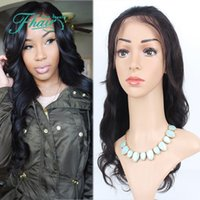 Wholesale real human unprocessed hair wigs for sale - Group buy 100 Real Unprocessed Human Hair Wig With Baby Hair Brazilian Virgin Glueless Body Wave Lace Wig Lace Front Wig