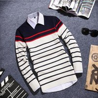 Wholesale Cheap Striped Sweaters - Wholesale- Hot sale 2017 autumn winters new men's casual warm sweater factory direct sale cheap wholesale