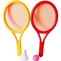 Wholesale Children S Sport Toys Wholesale - Selling children 's plastic tennis racket suit parent - child sports badminton racket sports toys free shipping