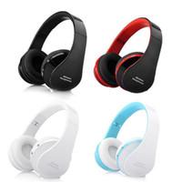 Wholesale Good Dj Headphones - Good quality NX-8252 foldable Wireless DJ stereo audio Bluetooth Stereo Headset Headphones fashion Earmuffs style DJ Bluetooth headset