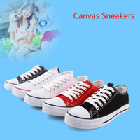 Wholesale Low Top Canvas Shoes Wholesale - 5 Colors Top Quality Canvas Sneakers Unisex Low Style Adult women and men classic canvas shoes