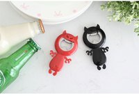 Wholesale Devil Opener - Devil Shape Bottle Opener Creative Candy Colors Bottle Beer Openers Funny Devil Bar Kitchen Accessories Novelty Gift Barware