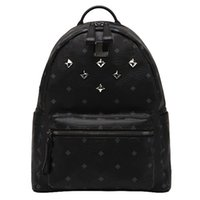 spring computer - Spring Fashion Classic MC Large C STARK MC BACKPACK VISETOS Shoulder Backpack Bag Rain girlhood Element Rivets Love Backpack Bag colors