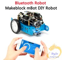 Wholesale Toy Metal Robot - Makeblock mBot Bluetooth robot bluetooth 2.0 & MBot Upgrated Version V1.1 Arduino Robot DIY Car Kit Kids Toys robot