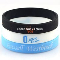 Wholesale Silicone Rubber Wristband Cuff Bracelet - Wholesale- Russell Westbrook wristband silicone bracelets rubber cuff wrist bands bangle free shipping