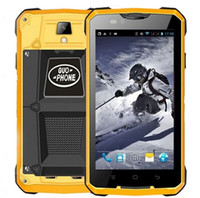 Купить Dual Core 3g Wcdma-Guophone V12 Outdoor Waterproof 3G Rugged Smartphone 5-дюймовый Android 4.4 Dual Core 512MB RAM 4 ГБ ROM Двойная SIM 4000mAh