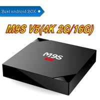 Preiswertester Quad Core M9S V5 S6 PRO Android TV BOX KD 17.3 Voll geladener 2GB 16GB Bluetooth Android 6.0 Media Player VS TX2 X96 MXQ PRO