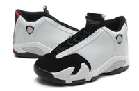 Wholesale Size 13 14 - Retro 14 XIV Black Toe men Basketball Shoes fashion 14S Sports Shoes With Shoes Box size 8-13