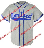 Custom Montreal Road Flannels Jerseys # 9 Jackie Robinson 1946 Grey # 5 Roberto Clemente 1954 Cream Home Team бейсбол Трикотажные изделия S, 4XL