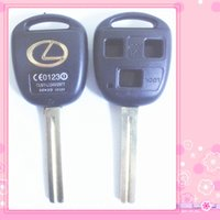 Wholesale Car Keys Blanks - KL23 TOY40P-3B TOYOTA KEY SHELL, 3 BUTTONS HOLE, WITH LEXUS LOGO LONG BLADE CAR KEY BLANK