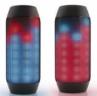 мини-импульсный светодиодный динамик оптовых-По DHL бесплатно новый импульсный беспроводной динамик Bluetooth со светодиодной подсветкой мини портативные колонки поддержка NFC U-disck TF карта красочные высокое качество
